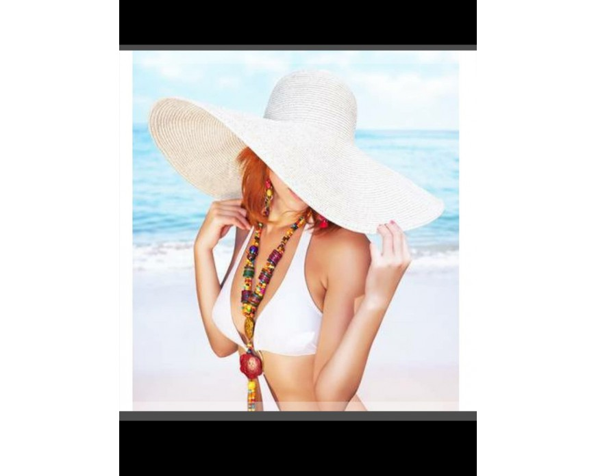 Straw hat to go to the sea